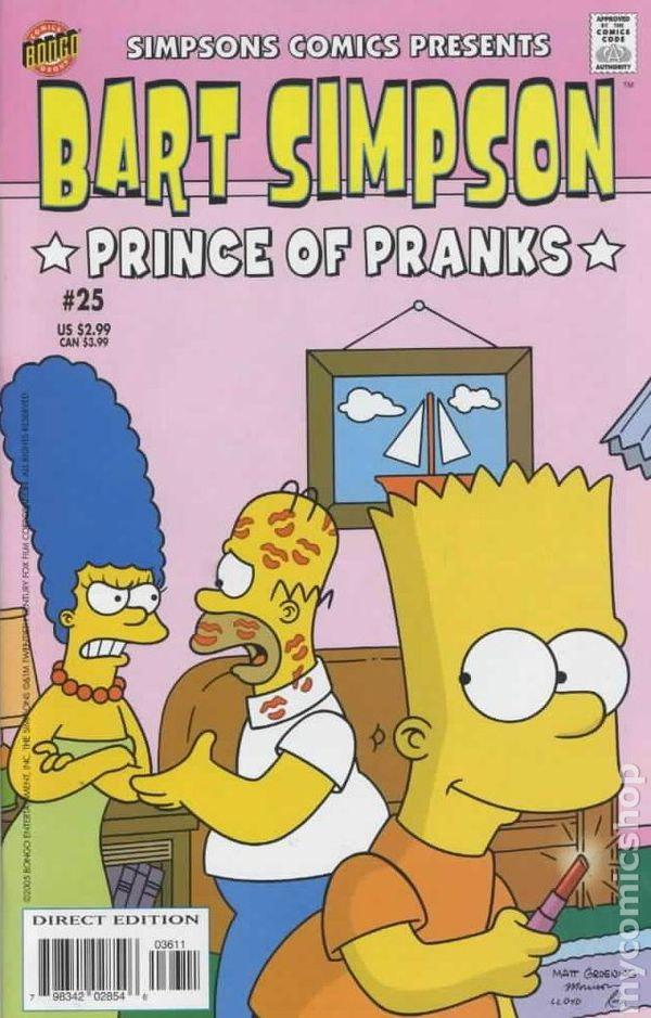 1st series 2000 BART SIMPSON COMICS #6 VERY FINE NEAR MINT BONGO COMICS