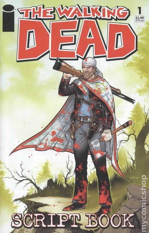 walking dead script book  2005  comic books