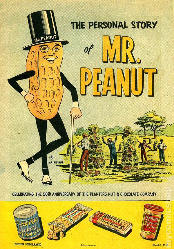 Personal Story Of Mr Peanut 1956 Comic Books