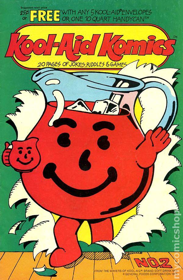 kool aid komics 20 pages of jokes riddles games 1975 comic books