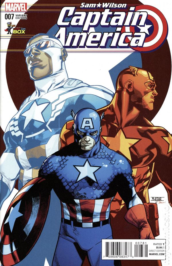 $5.99 COVER PRICE! FREE SHIPPING 5 copy lot of SAM WILSON CAPTAIN AMERICA #7