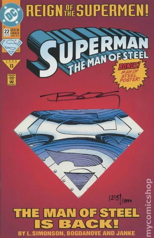 the man of steel comic book value