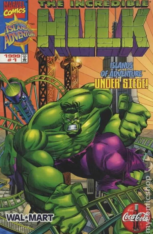 Incredible Hulk Islands Of Adventure 1999 Comic Books