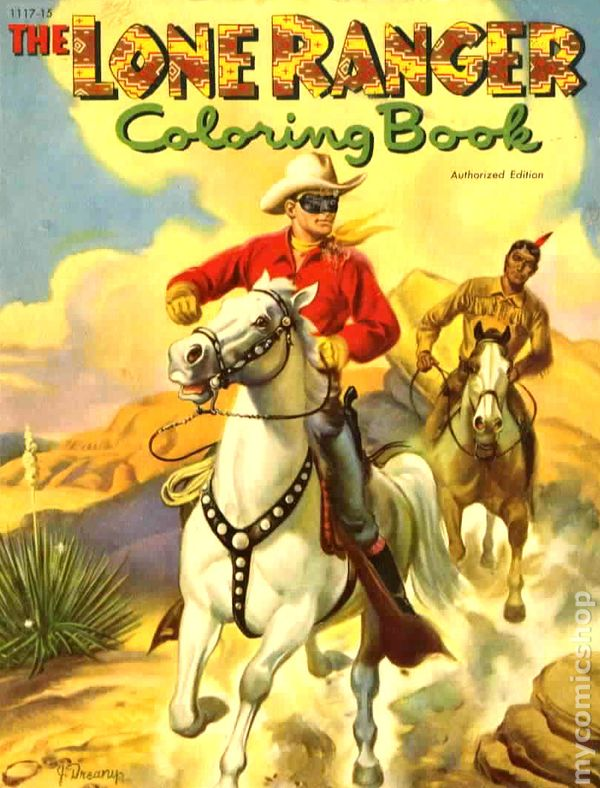 Lone Ranger Coloring Book SC 1951 1975 Whitman 1117 1ST