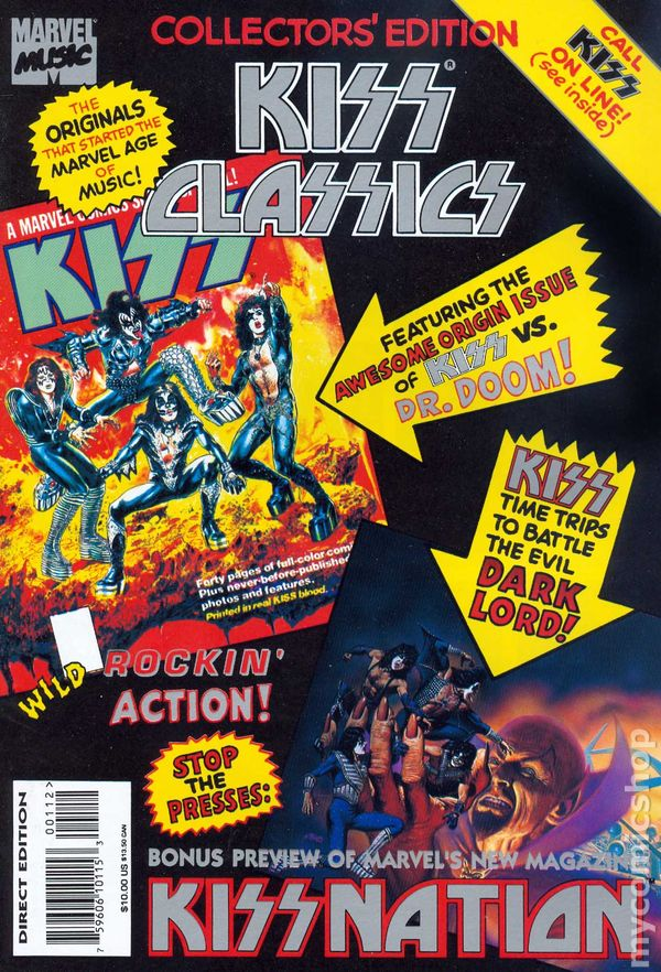 KISS MARVEL Collector/'s Edition KISS Nation-KISS /& THE X-MEN /& On tour w//KISS NM