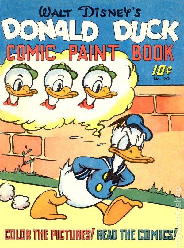 donald duck comic paint book large feature book comic books. Black Bedroom Furniture Sets. Home Design Ideas