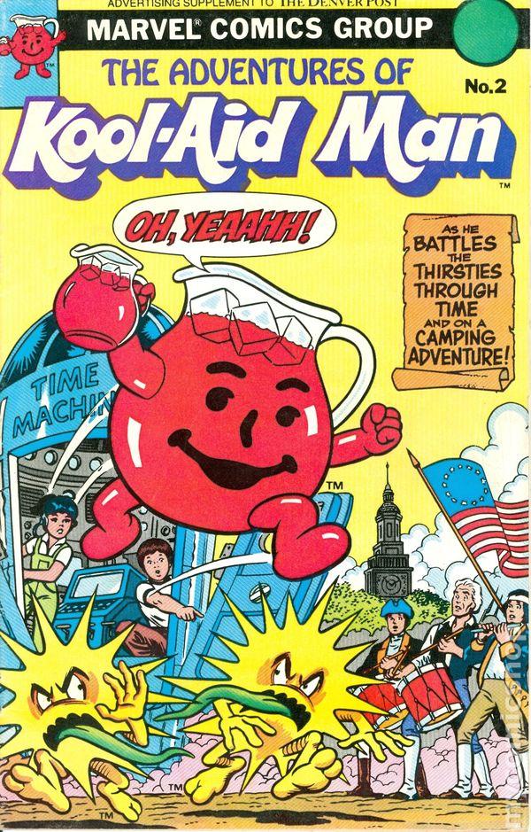 Adventures Of Kool Aid Man 1983 Marvel Comic Books
