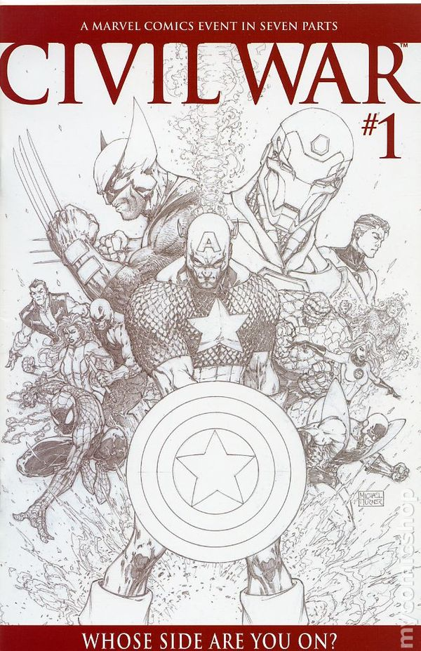 Civil War 2006 Marvel Comic Books Captain America Civil War Coloring Pages