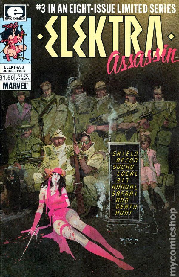 Elektra Marvel//EPIC Comics 1986 Assassin #2 CGC 9.8 1st SHIELD AGENTS