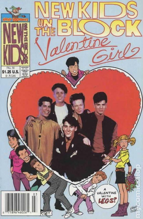 New Kids On The Block Valentine Girl 1990 Comic Books