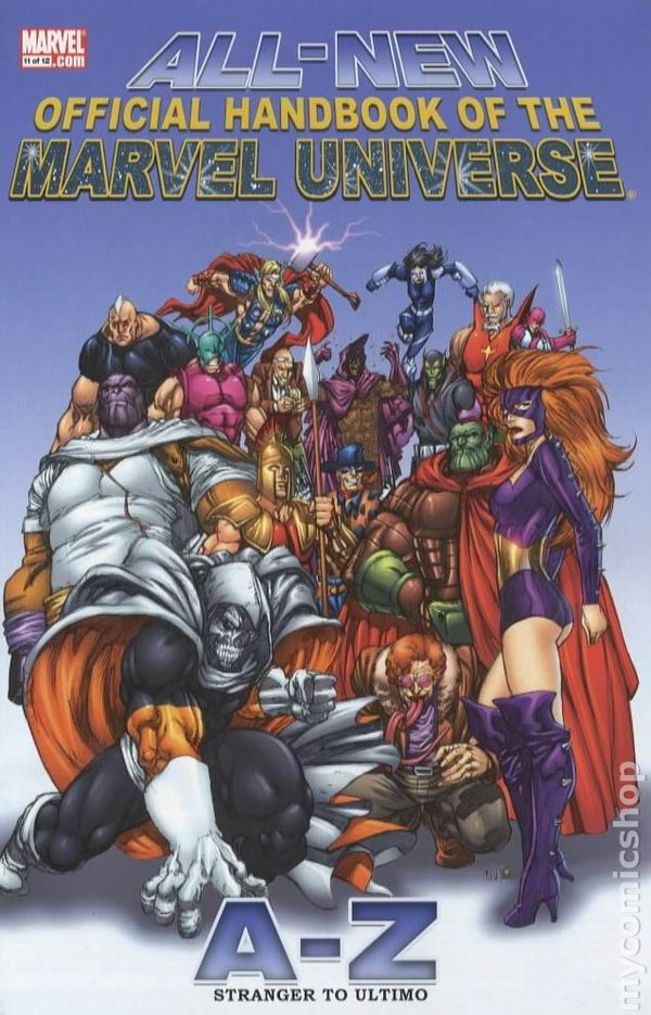 official handbook of the marvel universe cbr 250