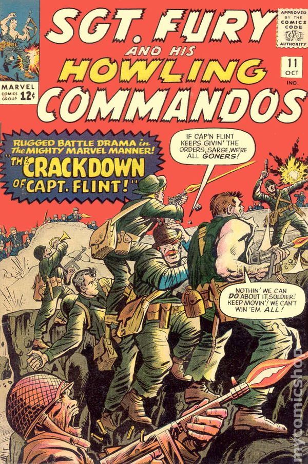 SGT FURY 13 SERGEANT HOWLING COMMANDOS CAPTAIN AMERICA VG STAN LEE JACK KIRBY