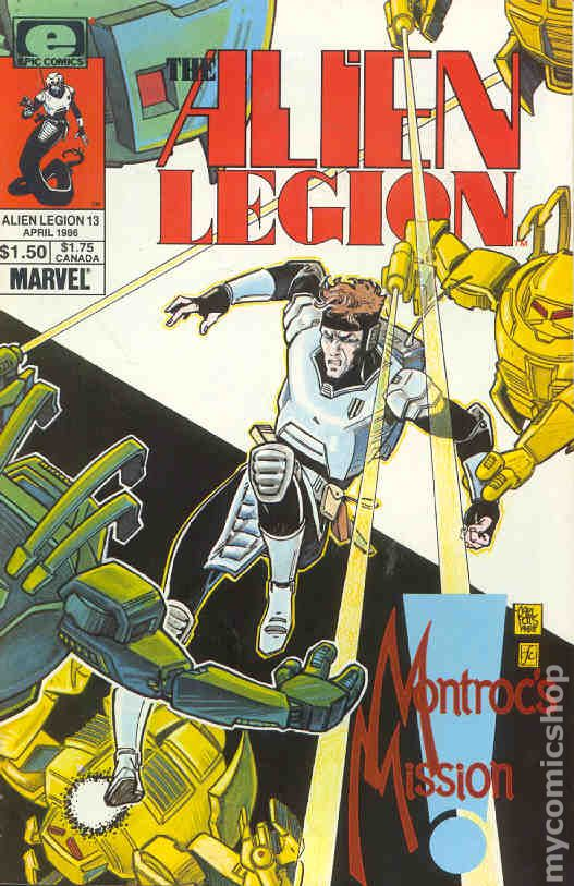 Alien Legion 1984 series # 12 near mint comic book