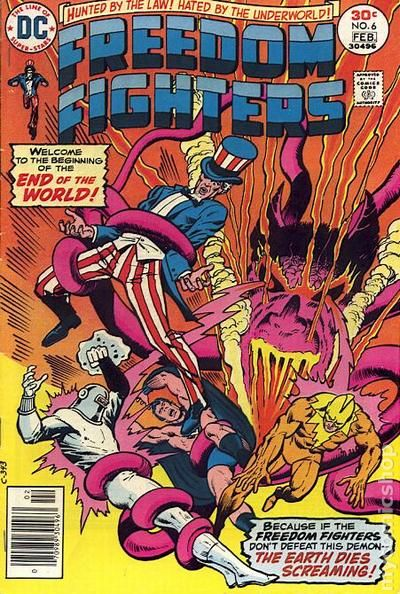 freedom fighters 1976 dc comic books