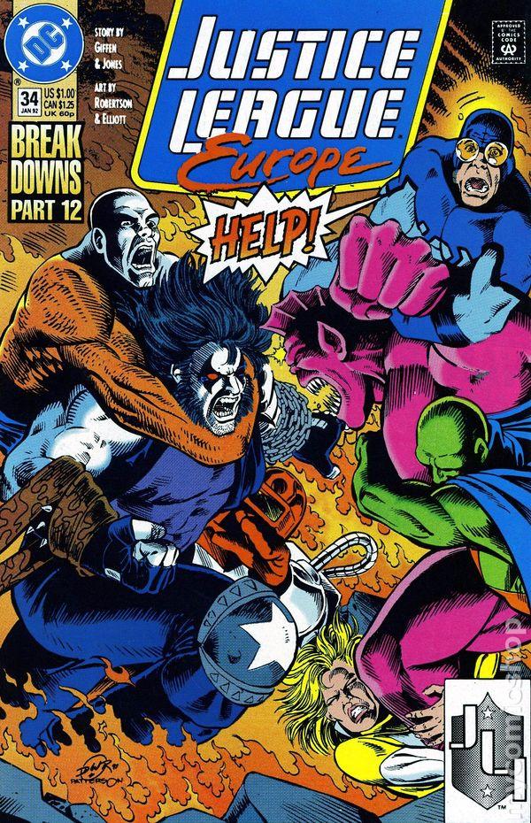 Justice League Europe 1989 series # 61 near mint comic book