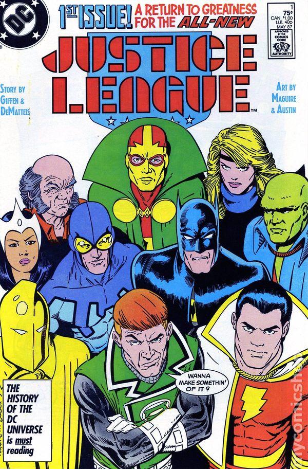 Justice League America #23 FN 1989 Stock Image