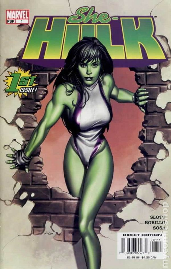 1st Series #4 2004 FN Stock Image She-Hulk