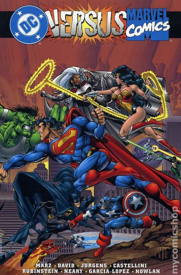 marvel vs  dc tpb  1996 marvel  dc  comic books