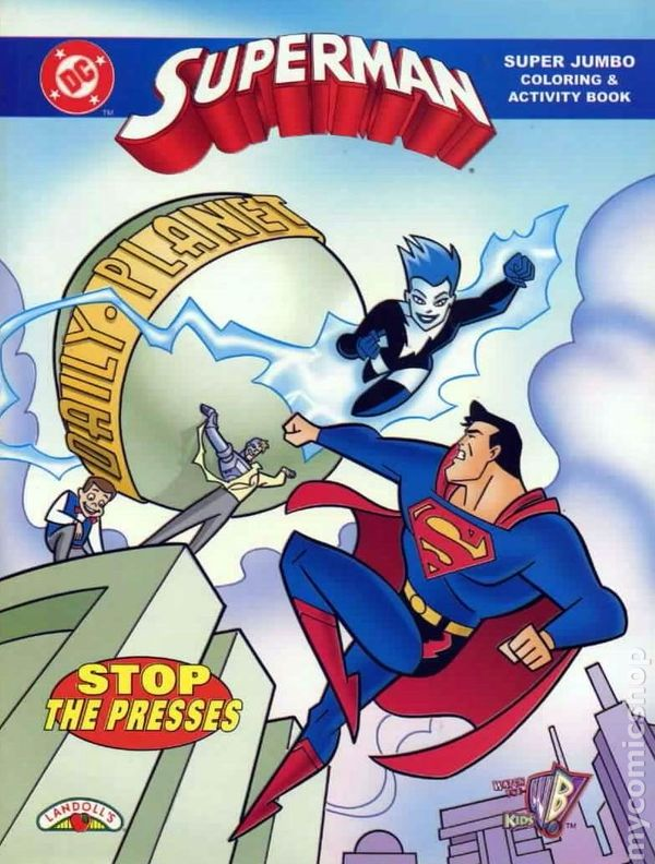 Superman Super Jumbo Coloring And Activity Book SC 1998 1 1ST