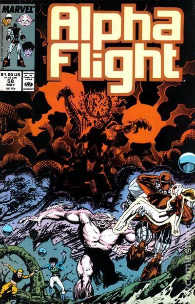 Alpha Flight #64 FN 1988 Stock Image