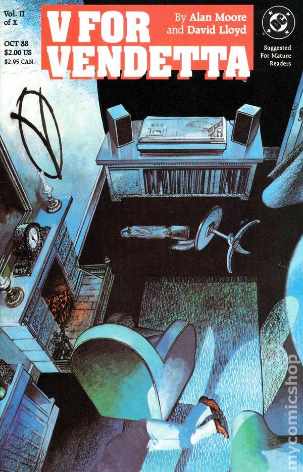 V For Vendetta 1988 Comic Books