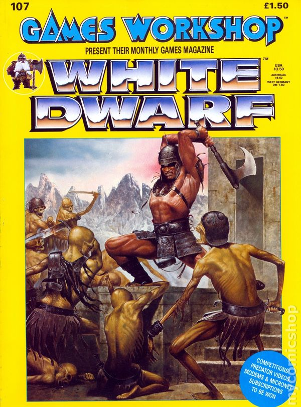 White Dwarf (1977-Present Games Workshop Magazine) comic books