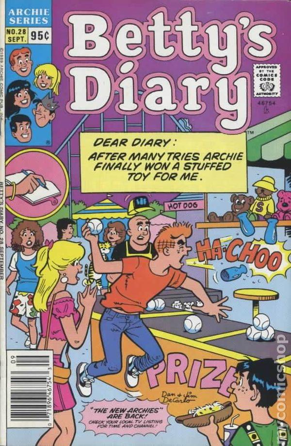 38 VF-NM Dec 1990 COMICS BOOK BETTYS DIARY 1986-