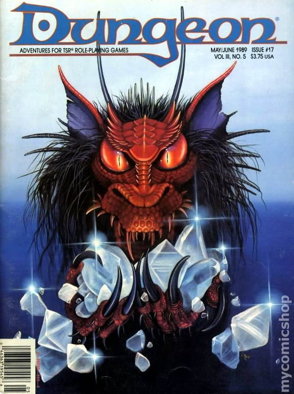 Dungeon Magazine #29 Advanced Dungeons /& Dragons 2nd Edition May  June 1991