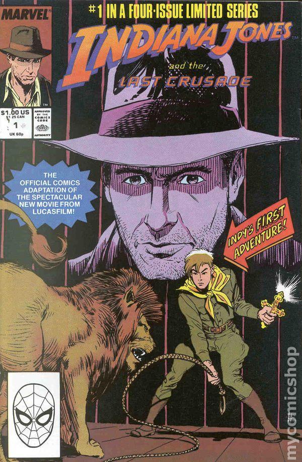 indiana jones and the last crusade 1989 movie comic books