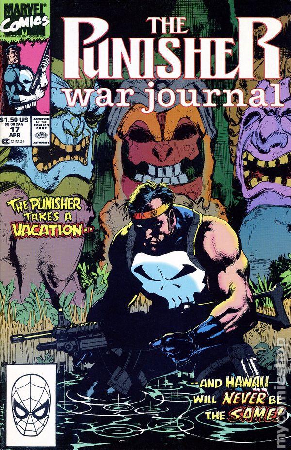 PUNISHER WAR JOURNAL #29 VOL1 GHOST RIDER APPS APRIL 1991