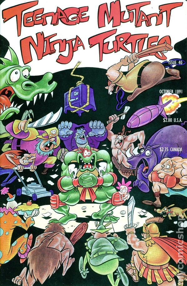 Mirage  VF//VF+ Teenage Ninja Mutant Turtles #41 1991