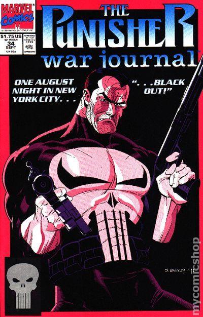 Punisher 1987 series # 34 very fine comic book