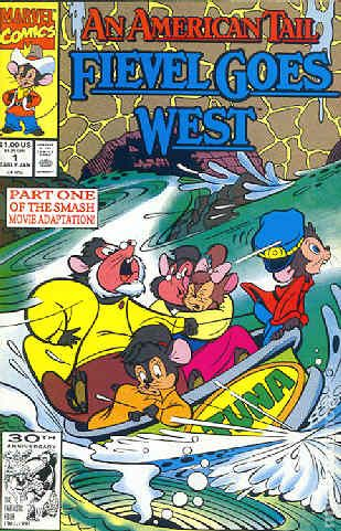 American Tail Fievel Goes West 1992 Comic Books