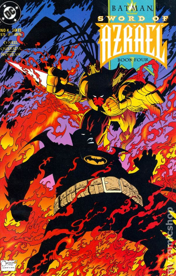 6.5 1992 Stock Image Batman Sword of Azrael #1 FN