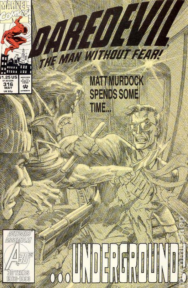 Daredevil #323 FN 1993 Stock Image