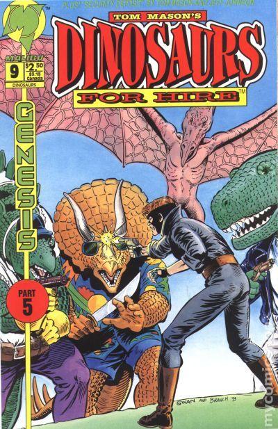 Dinosaurs For Hire 1993 2nd Series Malibu Comic Books