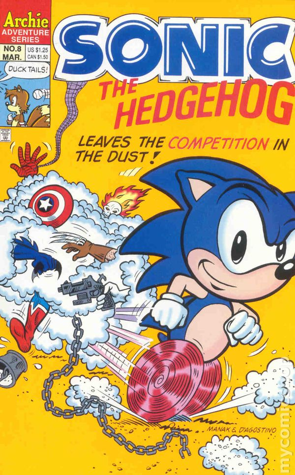 Sonic The Hedgehog 1993 Archie Comic Books