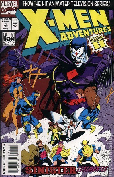 X-Men Adventures Season I #15 VG 1994 Stock Image Low Grade