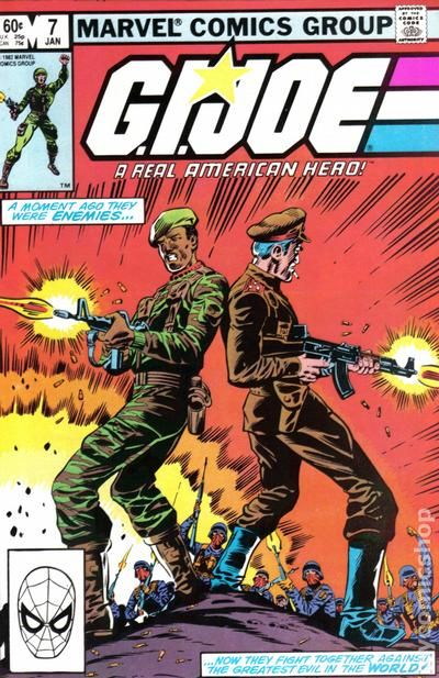gi joe 1982 marvel comic books