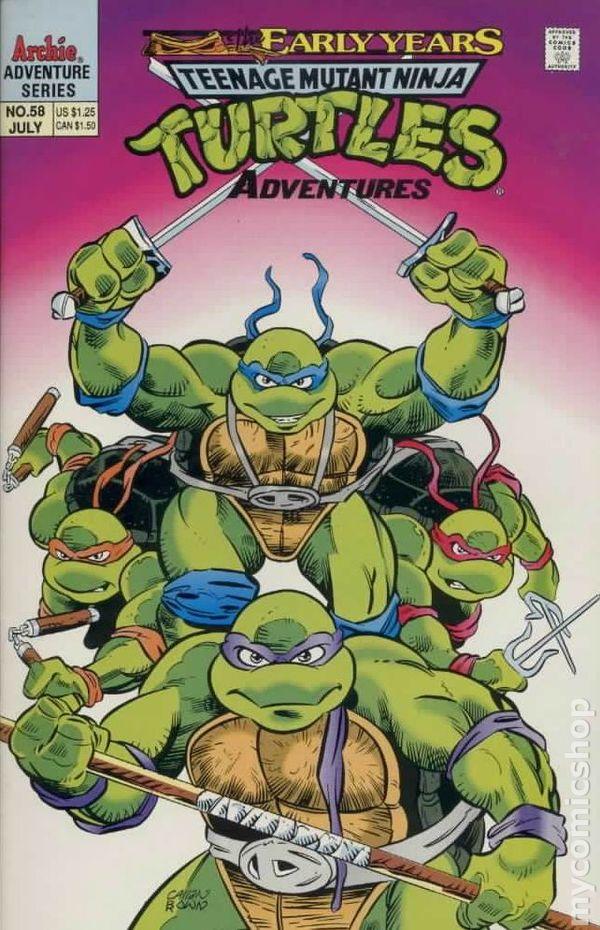 teenage mutant ninja turtles adventures 1989 comic books