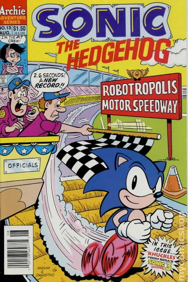 Sonic The Hedgehog Comic Books Issue 13