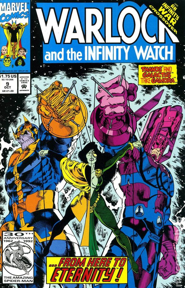 infinity watch. warlock and the infinity watch (1992) 9 i