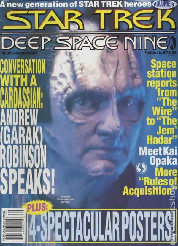 Star Trek Deep Space Nine TV Series Official Magazine #4 Starlog VERY FINE