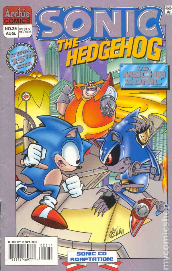 Sonic The Hedgehog Comic Books Issue 25