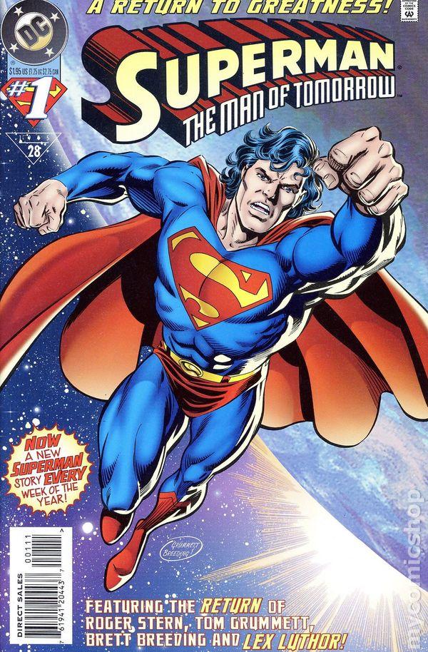 Superman The Man of Tomorrow (1995) comic books