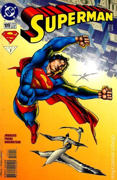 Superman Comic Book White Cover ~ Superman nd series comic books