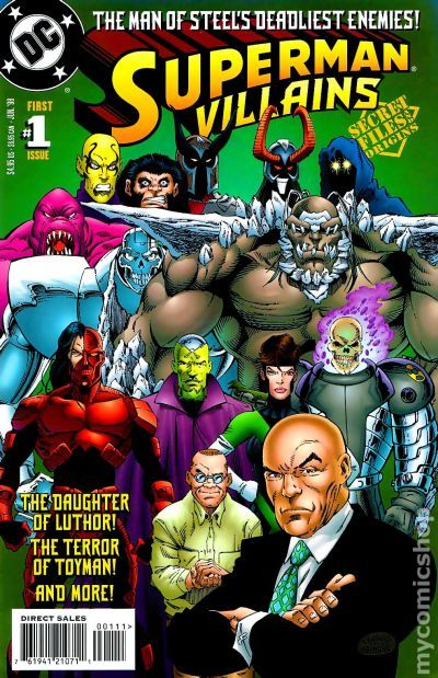 superman villains secret files 1998 comic books