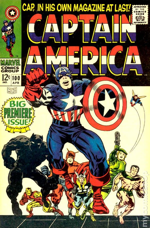 Captain America Comics 100 Captain America 1968 100