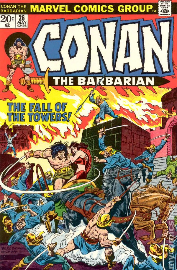 8.5 BUSCEMA VF CONAN THE BARBARIAN #26 1973 THE FALL OF THE TOWERS VERY FINE