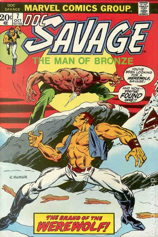 Doc Savage (1972 Marvel Comic) comic books